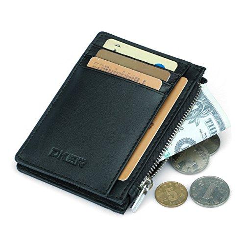 94f6ec7553 Expresstech @ Porta Carte di Credito e Tasche Pelle con tasca di moneta  Portafogli RFID Bloccaggio Per Uomini e Donne Carte di Credito & Soldi -  Nero