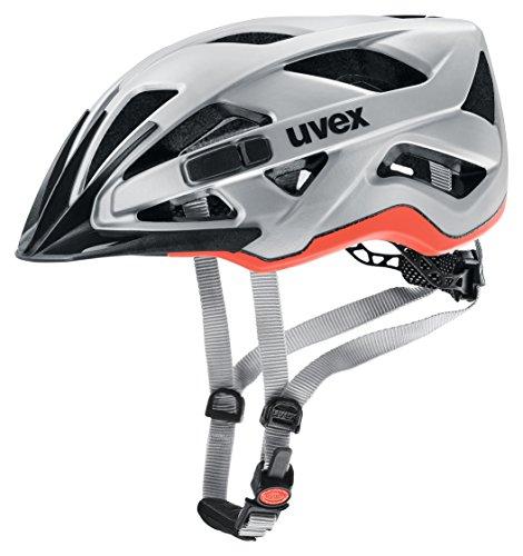 uvex Fahrradhelm, active cc, silver orange mat, 56-60 cm