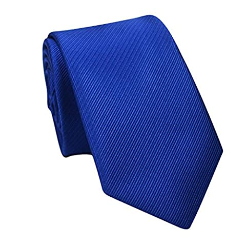 Zhhlaixing Cravate de mode Mens Solid Color Formal Bussiness Necktie Tie Perfect Gift