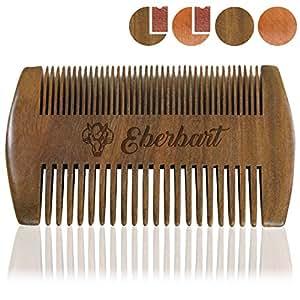 Eberbart Bartkamm + Gratis-eBook – Antistatischer Echtholzkamm für einen natürlich gepflegten Bart (Sandelholz)