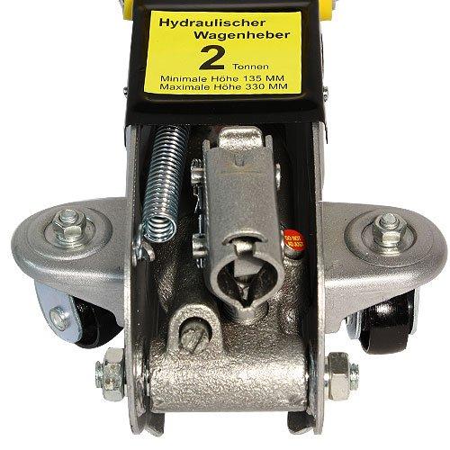 Arebos® Hydraulischer Wagenheber Rangierwagenheber 2 Tonnen mit extralanger Hubstange und Koffer -