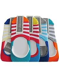 5 Paar Füsslinge Damen-geliefert in einer Box zum Verschenken geeignet-invisible Socks-farbig One Size