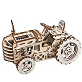 Robotime Puzzle 3D in Legno Tagliato a Laser - Trattore semovente - Kit Modello di Costruzione - Regalo Creativo per Uomo (Tractor)