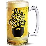 Beer Mug This Beard Needs Beer Printed Beer Mug 500 Ml Best Gift For Husband,Friend,Birthday,Anniversary