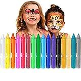 Pintura Facial Niños, Kozy Life Crayones de Pintura de Cara Pintura Facial y Corporal para la Copa Mundial, Halloween, Carnaval, Cosplay, Fiestas temáticas