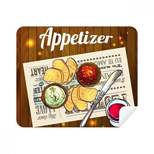 DIYthinker Appetizer Scheibe Brot Wein Telefon Bildschirmreiniger Gläser Reinigungstuch 2Pcs Suede Fabric (Wein Glas Telefon)