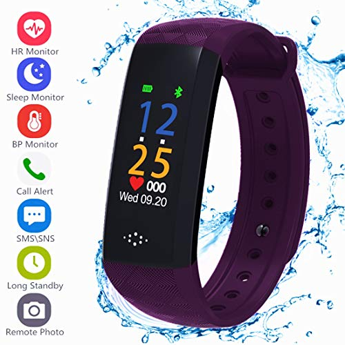 Fitness Tracker, Activity Tracker with Pedometer Blood Pressure Heart Rate Monitor Step...