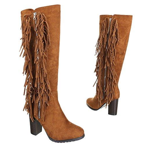Damen Schuhe, A632, STIEFEL Camel