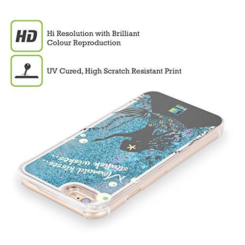 Head Case Designs Unicorno Paradiso Mitico Custodia Cover con Glitter Liquidi Blu Cielo per Apple iPhone 5c Sirena