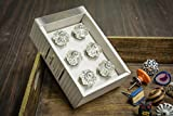 Casa Decor New Year Sale of Set of 6 Handmade Drawer Pull Cabinet Dresser Handle Wardrobe Knobs Classic Crystal Melon Design Glass Clear