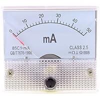 85c1 - mA 2,5 precisión DC 0-50mA analógico amperímetro baritina