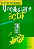 Image de Vocabulaire actif CM2. Fichier de l'élève