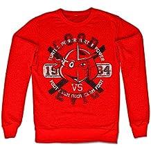 Oficialmente Licenciado TMNT Good VS Evil Camisa de entrenamiento (Rojo)