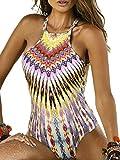 Blooming Jelly Femme Tropical imprimé tribal Maillot une pièce maillot de bain …
