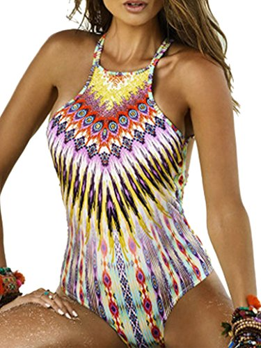 Blooming-Jelly-Womens-Tropical-Tribal-Print-One-Piece-Swimsuit-Bathing-Suit