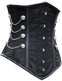 r-dessous Vintage Unterbrust Taillen Corsage schwarz Korsett Steampunk Gothic Punk