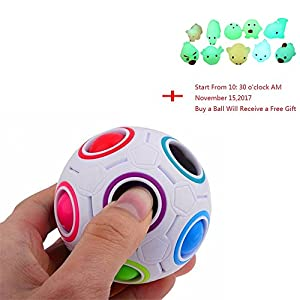 2017 Pop Rainbow Magic Ball Plastic Cube Twist For Children's Educational Toy Teenagers Adult Stress Reliever,Toamen