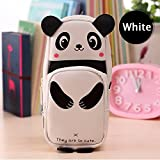 #8: Pretty Pro Cute White Panda Pencil Case Pouch Box Bag for Kids Students Office