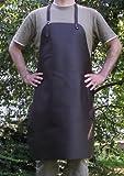 Bella vera pelle Griglia grembiule - Grembiule da cucina - Grembiule di cuoio - Grembiule cameriere 70x90 cm - con regolabile Cinghie