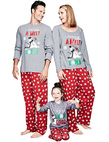 Nlife Family Adult Kids 2 Piece Christmas Matching Pajamas Set Home Pajamas Sleepwear Suit Pajamas Set Child