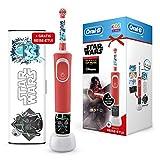 Oral-B Kids Star Wars Special Edition Elektrische Zahnbürste, mit Disney-Stickern und Gratis Star Wars Reise-Etui, für Kinder ab 3 Jahren, rot