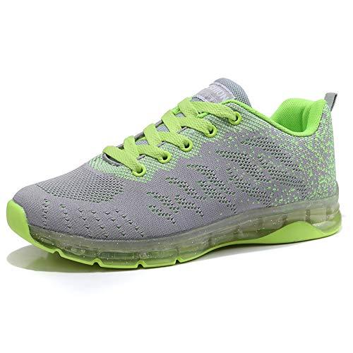 Sneakers Donna Sportive Scarpe da Corsa Walking Maglia Formatori da Ginnastica Low Top Calzature Moda Atletiche Comode Grigio 39