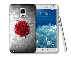 Snoogg Japan Flag Printed Protective Phone Back Case Cover For Samsung Galaxy NOTE EDGE