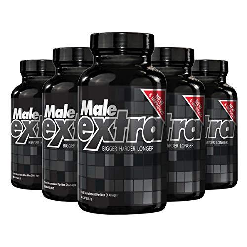 Natural Care Kräuter-vitamine (Male Extra Natural Male Nahrungsergänzung, hilft, die sexuelle Leistungsfähigkeit, Größe und Ausdauer zu verbessern 5-Pack (450 Kapseln).)