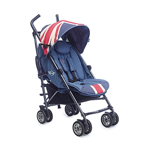Easywalker Mini Vintage Union Jack Buggy  Suitable from birth 5 point 3 position harness Four recline positions with near flat recline 1