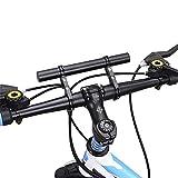 West Biking, Doppel-Lenkerverlängerung für Mountainbike, Aluminiumlegierung, Erweiterung für Fahrräder, Halter für Tacho, Mount-Scheinwerfer, Lampenhalter, Herren, Schwarz
