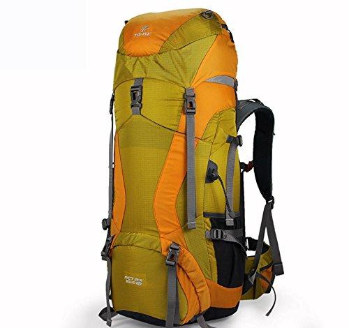 Sport outdoor zaino spalla zaini nuovi nylon 45 + 10L 55 + 10L 65 + 10L aggiornamenti , red 45+10; sub yellow 45+10l