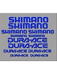 PEGATINAS SHIMANO DURA-ACE R227 STICKERS AUFKLEBER DECALS AUTOCOLLANTS ADESIVI (AZUL)