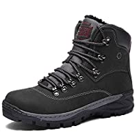 Sixspace Mens Womens Winter Boots Warm Light Snow Walking Boots Ladies Faux Fur Lined Ankle Shoes Footwear with Non-Slip Rubber Sole for Casual Walking Hiking Camping Traveling School Outdoor