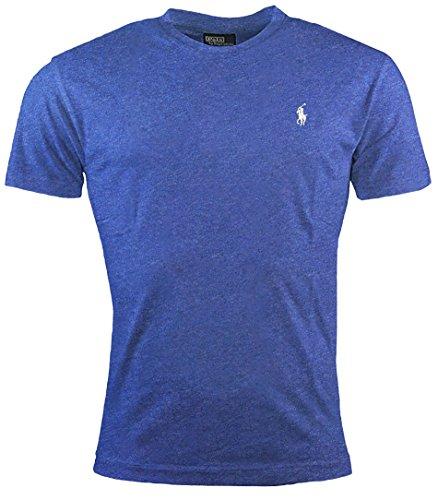 Ralph Lauren - Classic-Fit Herren T-Shirt - Blue Heather - Large Ralph Lauren Classic-t-shirt