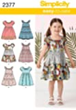 Simplicity A 3-4-5-6-7-8 Sewing Pattern 2377 Childs Dresses