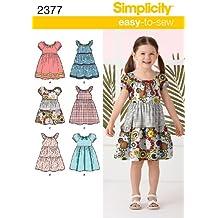 Simplicity 2377 - Patrones de costura para hacer vestidos de niña