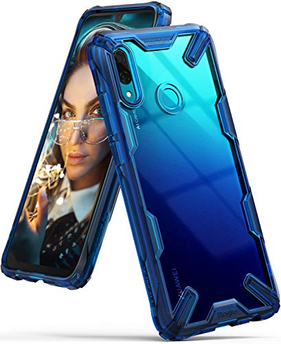 Ringke Fusion-X für Huawei P Smart 2019 Hülle [Space Blue] Ergonomische Transparent Schutzhülle Hart PC Rückseite Case TPU Rahmen Bumper Cover Kratzfest Handyhülle für P Smart 2019 Schutzhülle