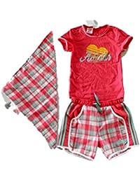 Adidas I J Q Girl Baby Kinder Set T-Shirt Short Halstuch Neu Gr. 104