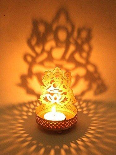 Shadow Lakshmiji Metal Tea Light Holder Diya ( wax + led)