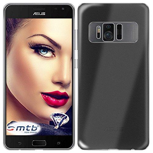 mtb more energy® Schutz-Hülle Clear und Slim für ASUS Zenfone AR ZS571KL (5.7'') | transparent | flexibel | TPU Silikon Case Cover Tasche