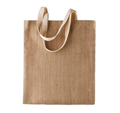 Kimood Jute Einkaufstasche Braun