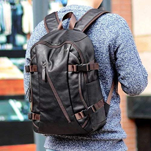 Fur Jaden Black Unisex Waterproof Stylish Backpack Bag of Artificial Leather for Faculty, Office and School Image 3