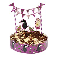 Cake Bunting Set With Toppers And Frill - Choice Of Design ( Mr Badger )