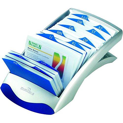 Durable 244301 Visifix Flip Duo Fichier Rotatif Pour 600 Cartes De Visite Avec Index 25 Touches