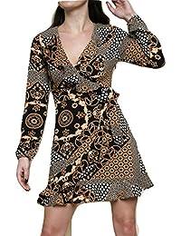 Momo Ayat Fashions Robe Patineuse imprimée Foulard pour Femme, ... 39d2f563a04