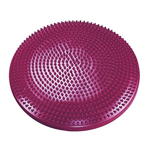 """Coussin d'équilibre """"Balance Cushion"""" aubergine Ø 33 cm (avec picots) pour renforcer les muscles dorsaux"""