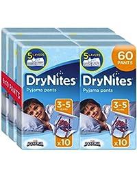 Drynites Mutandine Assorbenti per la Notte da Bambino, 16-23 Kg, 6 Confezioni da 10 Pezzi