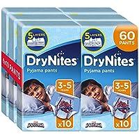 Huggies DryNites Boy hochabsorbierende Pyjamahosen Unterhosen für Jungen für 3-5 Jahre, 6x 10 Stück