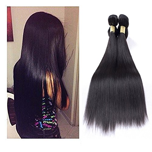 Unprocessed Peruvian Hair extensions 100% Remy vergini Silky straight Weave 100g per Bundle Natural color 1B