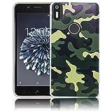 bq Aquaris X5 Plus Passend Camouflage Handy-Hülle Silikon - staubdicht, stoßfest & leicht - Smartphone-Case